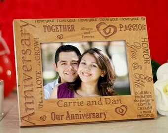 Our Anniversary Engraved Wood Frame