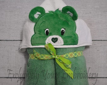 READY TO SHIP Good Luck Bear Children's Hooded Towel