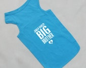 Only Child Big Brother Dog Shirt. Large Breed Pet Clothes. Custom Dog Tank Tops. Gift for Expecting Mother.