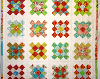 Modern Granny Square Baby Quilt