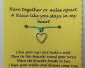 Niece gift, Niece Wish Bracelet, Charm bracelet, Christmas gift, Stocking filler, Niece Bracelet,  Niece Jewelry, Gift for Niece