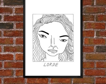 Badly Drawn Lorde - Poster