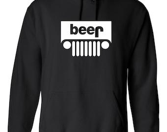Beer Jeep Hoodie Hooded Sweatshirt