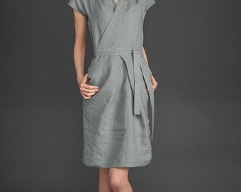 Items similar to Yellow linen dress organic dress women dresses ...