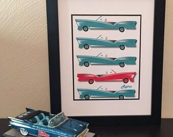 Retro Cars Print