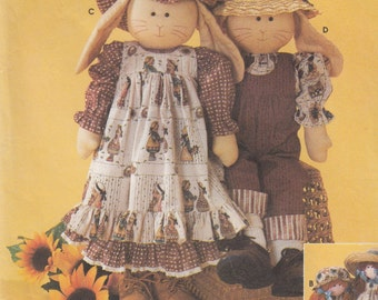 """Simplicity Crafts 7142 24"""" Rag Doll or Bunny & Clothes Sewing Pattern - Toy Sewing Pattern - Uncut Sewing Pattern - Craft Sewing Pattern"""
