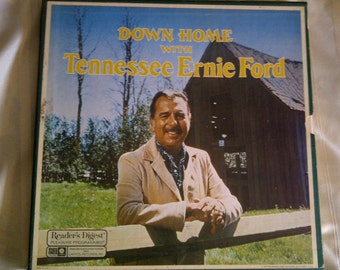 Tennessee Ernie Ford. Down Home With Tennessee Ernie Ford. 8 Set Vinyl Albums. Tennesse Ernie Ford And Reader's Digest Music.