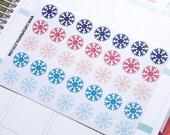35 christmas snowflake stickers, weather sticker, life planner stickers, scrapbook reminder, winter sticker, holidays sticker