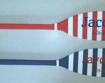 Personalized wood oar/paddle