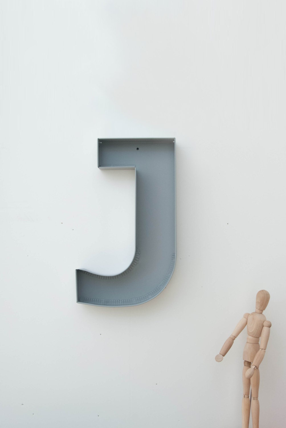 J sign letter wall decor metal letters for home styling Wall letters decor
