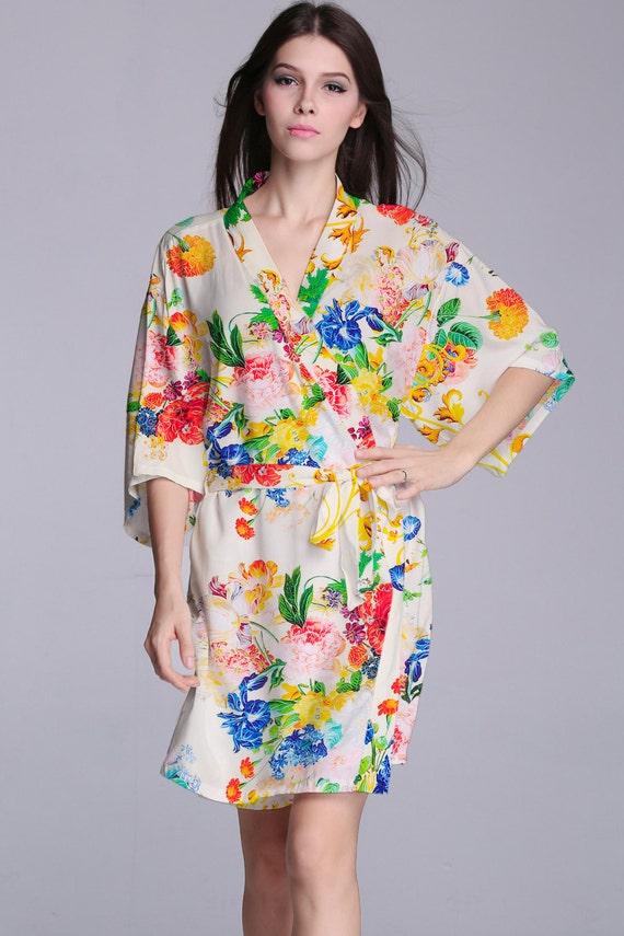 bridesmaid gift bridesmaid robe cheap spa robe silk by ...