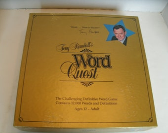 Tony Randall's Word Quest, 1980s Board Game, Vocabulary Definitions Game