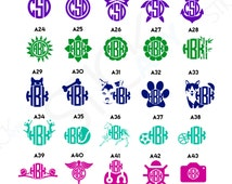 2x Custom Vinyl Monogram Sticker Decal - For Indoors and Outdoors - Dog Cat Flowers Doctor Camera Sun Bow Tennis Horse