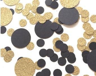 Black & Gold Confetti   Circle Confetti   New Year  Table Decor   Happy New Year  Large Confetti   Gold   2016   Celebrate   Party