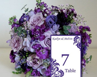 Instant Download Printable Table Numbers, Table Numbers Wedding, DIY Table Numbers S002-1
