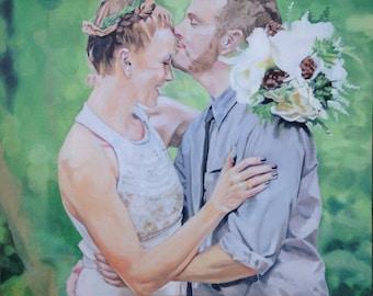 Color Oil Wedding Portrait