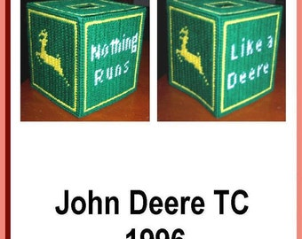 John Deere Tissue Box Pattern in Plastic Canvas