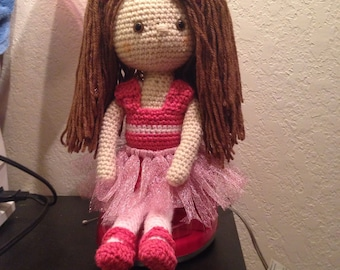 Baby ballerina crochet doll amigurumi