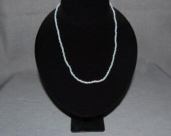 Snow White beaded necklace ~ Handmade Vintage
