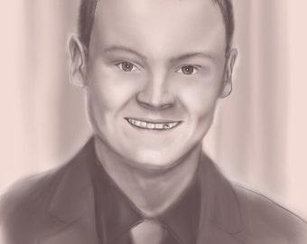 Custom Digital Portrait - Monochrome