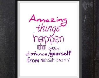 Poster Amazing things happen - 3 Digital Print, Printable Wall Poster, Modern Art, Typography Posters, Home wall decor