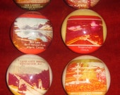 Instant Collection Nine Souvenir Acrylic Paperweights, Canada
