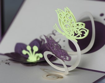 Flower and Butterfly pop-up card