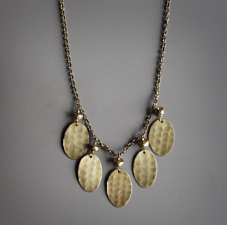 necklace boho necklace antique necklace brass