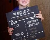 First Day of School chalkboard - Back to School Chalkboard, Back to School Sign, First Day of School Sign, Back to School Chalkboard Poster