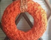 Orange Rosette Wreath