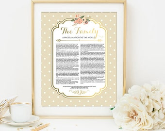 LDS Proclamation To The World Family Proclamation Digital Printable Art