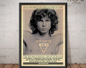 Jim Morrison - The Doors Poster - Quote Retro Music Poster - Music Print, Wall Art