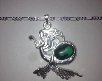 Malachite Mystical Mermaid Necklace