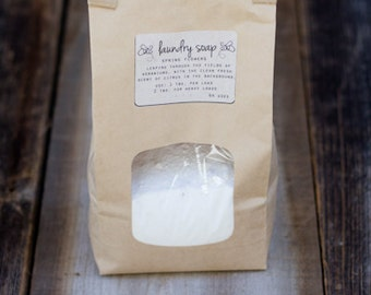 All Natural Laundry Soap // Essential Oils