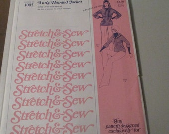Anne Person 1976 Stretch And Sew Pattern #1005 Women's Hooded Jacket Sizes 30-42
