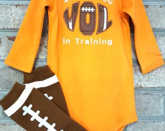 Baby Onsie | Tennessee Vols | Football Leg Warmers | Football | Baby Boy |Baby Girl | Baby Shower Gift | Boys Clothes | Georgia Baby | Bama