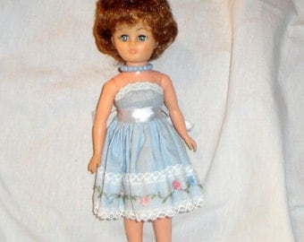 c1962 Vogue Jill Doll wearing Tagged #60350 Party Dress