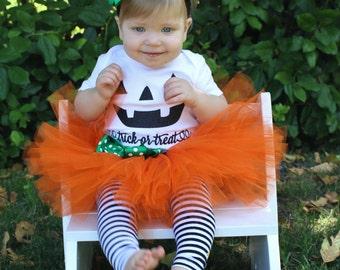 Pumpkin Tutu Costume // Orange Tutu // Halloween Pumpkin Costume // Toddler Halloween Costume