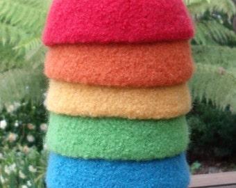 Felted Wool Bowls / Rainbow Bowls