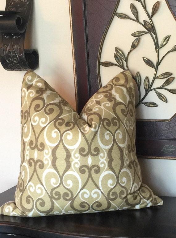 Olive Green Throw Pillow Decorative Pillows Brown Pillow