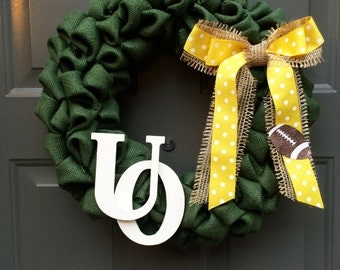 University of Oregon wreath, Oregon ducks wreath, ducks wreath, college football wreath, ducks football, college wreath, Oregon wreath