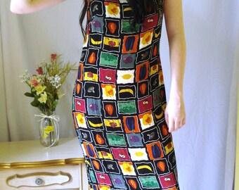 1980's Breeze Maxi Dress, Food print