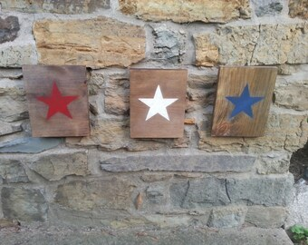 Star Sign Red White & Blue (Set of 3)