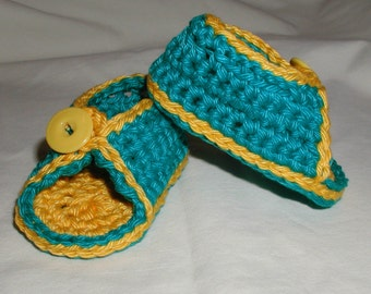 Hand Crochet Baby Sandals 3-6 Months