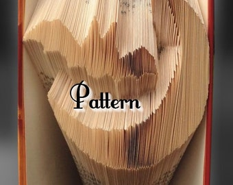 Bat & Moon - Folded Book Art Pattern - Instant Download!