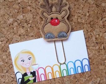 Felt Reindeer Paper Clip   Christmas Bookmark   Planner Clip   Refrigerator Magnet   Cute Brooch Pin   Organizer   Planner Accessory   376