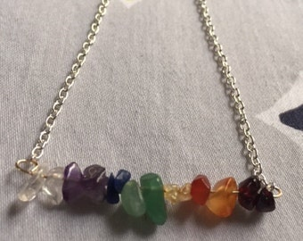The Seven Chakra Double Gemstone Necklace