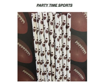 Football Paper Straws.....24ct........ Tailgating Parties.......Football Parties......Birthday Parties......School Events.....