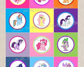 Digital my little pony printable cupcake toppers
