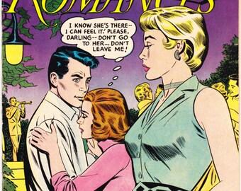 Girls Romances 40, Love comic book, Young Romance, Heart Throbs, Secret Diary, Style, Fashion. 1956 DC Comics in VF (8.0)